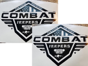 COMBAT JEEPERS VINYL DECAL STICKER SET OF 2