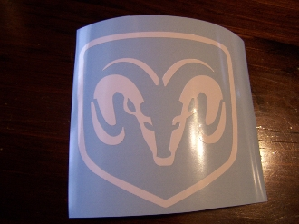 DODGE RAM HEAD VINYL DECAL STICKER CHOOSE SIZE & COLOR