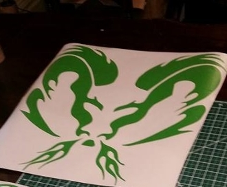 DODGE RAM HEAD FLAMES VINYL DECAL STICKER CHOOSE SIZE & COLOR