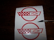 CORVETTE C4 EMBLEM SET VINYL STICKER DECAL CHOOSE COLOR & SIZE