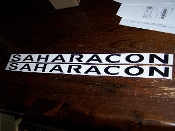 JEEP WRANGLER SAHARACON HOOD VINYL DECAL SET JK TJ JKU