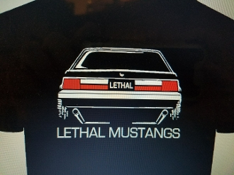 LETHAL MUSTANGS DRAG RACING T-SHIRT CHOOSE SIZE & COLOR