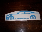 CHARGER WITH MOPAR LOGO & TEXT VINYL STICKER DECAL 2006-2010