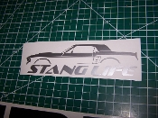 STANG LIFE WINDOW BANNER STICKER DECAL CHOOSE COLOR