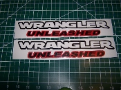 JEEP WRANGLER UNLEASHED FENDER VINYL DECALS JL JK CHOOSE COLOR
