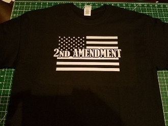2ND AMENDMENT T-SHIRT MY RIGHTS DON'T END WHERE YOUR FEELINGS...
