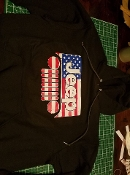 JEEP AMERICAN FLAG HOODIE CHOOSE SIZE HOODED SWEATSHIRT