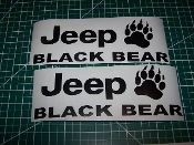 JEEP WRANGLER BLACK BEAR JK UNLIMITED FENDER VINYL DECAL SET