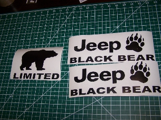 JEEP WRANGLER BLACK BEAR JK UNLIMITED FENDER DECALS SPORT