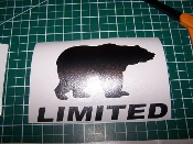 JEEP WRANGLER BLACK BEAR JK UNLIMITED VINYL DECAL TAILGATE