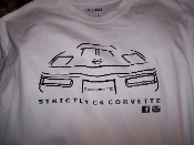 STRICTLY C4 CORVETTE T-SHIRT 1991-1996