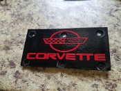 CORVETTE C4 THROTTLE BODY OVERLAY DECAL WITH EMBLEM
