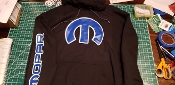MOPAR HOODIE WITH SCRIPT ON SLEEVES AND LOGO ON FRONT