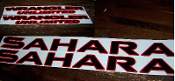 JEEP WRANGLER SAHARA UNLIMITED HOOD & FENDER DECAL SET JK JKU