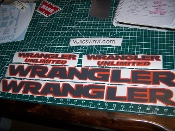 JEEP WRANGLER UNLIMITED HOOD & FENDER DECAL SET JK JKU