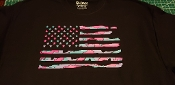 DISTRESSED AMERICAN FLAG CAMO PRINT T-SHIRT WOMEN'S