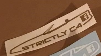 STRICTLY C4 CORVETTES 84-90 CONVERTIBLE VINYL DECAL STICKER