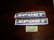 JEEP WRANGLER SPORT FENDER VINYL DECAL SET OF 2 CHOOSE COLOR