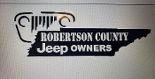 ROBERTSON COUNTY JEEP OWNERS LARGE VINYL DECAL STICKER