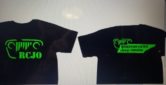 ROBERTSON COUNTY JEEP OWNERS T-SHIRT CHOOSE SIZE & COLOR