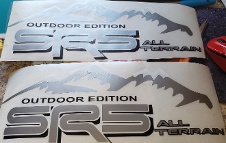 SR5  ALL TERRAIN BEDSIDE / WINDOW STICKER VINYL DECAL SET OF 2