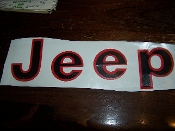 1975-86 JEEP CJ TAILGATE  VINYL DECAL CJ7 CJ8 SCRAMBLER