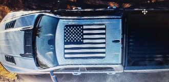 DODGE RAM 2019 2020 AMERICAN FLAG PANORAMIC SUNROOF DECAL