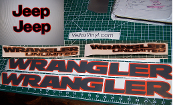JEEP WRANGLER HOOD & FENDER DECAL SET UNLIMITED JLU CHOOSE COLOR