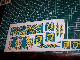 BMX DYNO D-TOUR DECAL SET 86 87 88