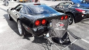 CORVETTE C4 CUSTOM CAR SHOW FOLDING CHAIR LOGO FRONT AND BACK