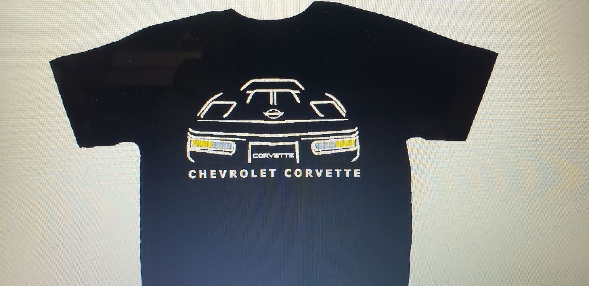 for Chevrolet Corvette C4 coupe 2X Car silhouette stickers