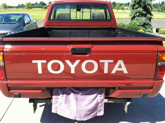 78-83 TOYOTA TAILGATE DECAL FOR EMBOSSED LETTERS CHOOSE COLOR  PICKUP HILUX